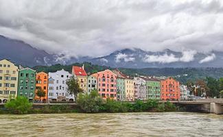 Colorful buildings in Innsbruck, Austria photo