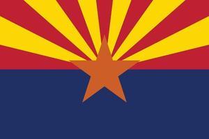 Arizona officially flag vector