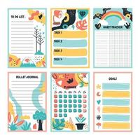 Many Types Of Journal Design Ready to Use vector