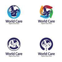 World Care Logo Template Design Vector