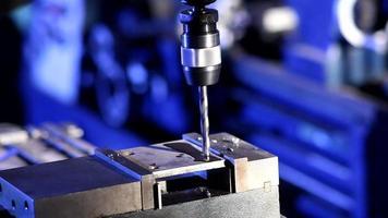 Drill press close-up video