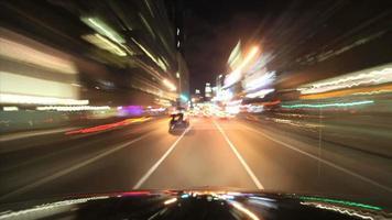 condução noturna, cidade de nova iorque video