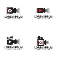 Play movie Video Camera Film Strip vector