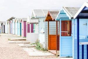 assorted color beach huts photo