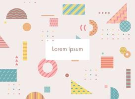 Cute patterned texture figures are freely arranged. Simple pattern design template. vector