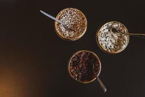 Grain seeds on table photo