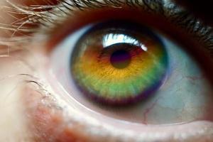 arcoiris en el ojo foto