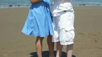 portrait de couple à la plage video