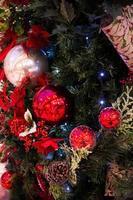 Nice decorations on Christmas tree photo