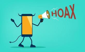 Hoax fake news or messages flat vector illustration