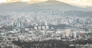 Aerial view to Tbilisi city photo
