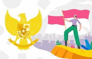The Republic Of Indonesia vector