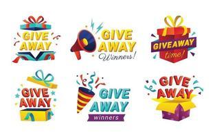 Giveaway Announcement Set vector