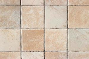 Close up of decorative kitchen tiles photo
