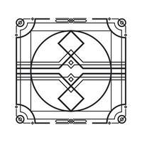 geometric decorative frame vector