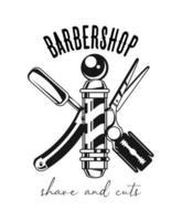 barber shop poster vector