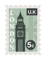 london postage stamp vector