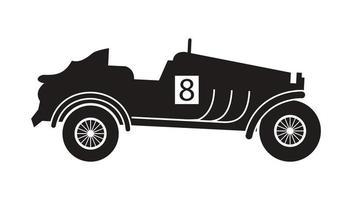 car racer silhouette vector