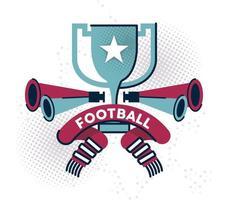 premio de la copa de fútbol americano vector