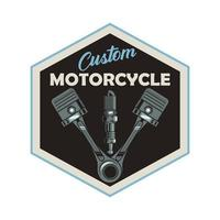 pistons and spark plug vector