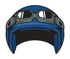 motorcycle helmet blue vector