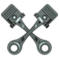 motorcycle pistons icons vector