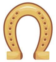 icono de herradura dorada vector