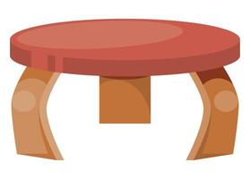 nursery wooden table vector