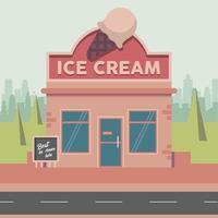 ice cream street vector