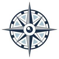 nautical compass icon vector