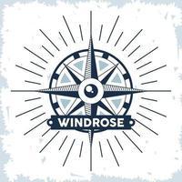 nautical compass emblem vector
