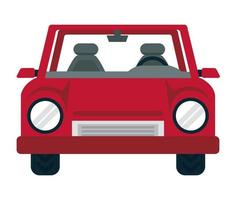 red car front vector