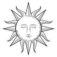 sun face icon vector