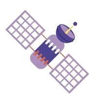 satellite artificial space isolated icon vector