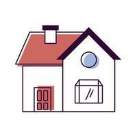 house front facade vector
