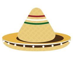 sombrero mexicano de mariachi vector