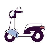 scooter motocicleta vehículo vector