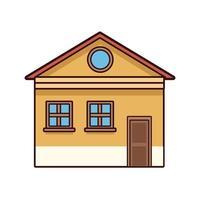 fachada de la casa amarilla vector