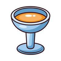 copa ponche bebida vector