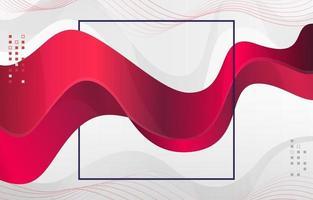 Fondo de estilo de onda de color rojo moderno vector