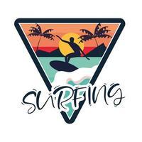 diseño de parche de surf vector