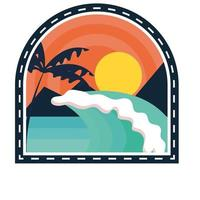parche de playa de surf vector