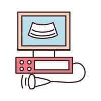 monitor de ultrasonido médico vector
