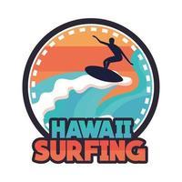 parche de surf de Hawaii vector