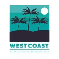 west coast banner vector
