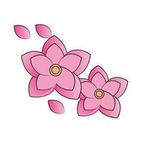 flowers sakura asian vector