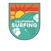 parche de surf de california vector