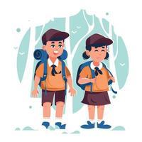 Kids Summer Camp Adventures vector