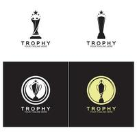 Trophy logo and symbol vector