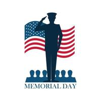 memorial day soldier vector
